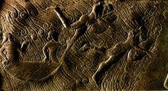 Nadadores sob a água, 858-824 a.C., Museu do Louvre, Paris.