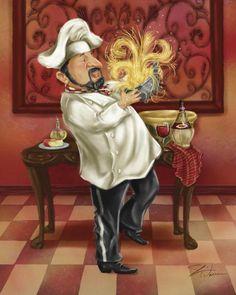 Chefs With Wine III by Shari Warren