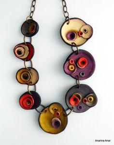 73a6293b087c Polymer clay necklace. Joyería PersonalizadaArcilla De PolímeroCollar ...