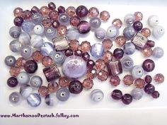 Purple coloured Beads £2.50