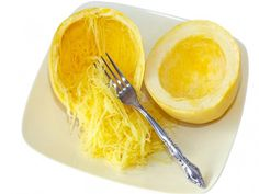 Microwave Spaghetti Squash, Dukan Diet - squash in under 10 minutes #DukanDiet, #recipes