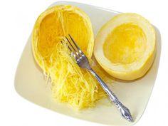 Microwave Spaghetti Squash, Dukan Diet - squash in under 10 minutes #DukanDiet, #recipes
