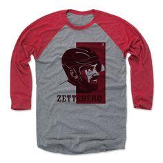 Henrik Zetterberg Vector R Detroit Officially Licensed NHLPA Baseball T-Shirt Unisex S-3XL