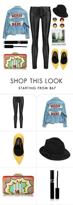 """""""Street Style Trend"""" by karineminzonwilson ❤ liked on Polyvore featuring Maje, Yves Saint Laurent, Polaroid, RED Valentino, KOTUR and Sisley Paris"""