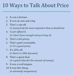 Talking about price.