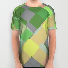 Squares and other shapes All Over Print Shirt by Laly_sb #T-shirt #tee #fashion #clothing #clothes #abstract #all over print #unisex #shapes #rhombus #squares