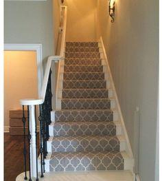 A residential stair carpet #Flooring by #MacFlooring