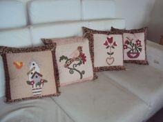 Capas para almofadas. www.saldaterrapatchwork.blogspot.com