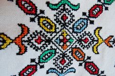Moroccan Embroidered pillow cover by MoroccanStyle on Etsy, €7.90