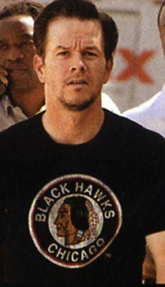 Mark Wahlberg in Chicago Blackhawks.