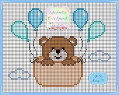 Tiny Cross Stitch, Baby Cross Stitch Patterns, Cross Stitch Flowers, Cross Stitch Charts, Cross Stitch Designs, Knitting Charts, Baby Knitting, Cross Stitching, Cross Stitch Embroidery