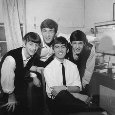 """thateventuality: """" The Beatles, backstage at the Odeon Cinema, Southend-on-Sea, 31 May 1963 Photo: Derek Cross """"""""Paul was always the friendliest, almost playing the host: 'C'mon in, the party's just..."""
