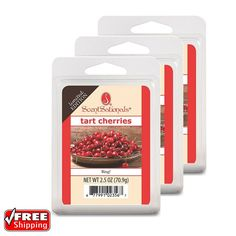 Rich aroma of tart and black cherries. Enjoy your favorite fragrance in a whole new way. The wax cubes can be used with any wax melt warmer. They are safe, simple and convenient and they are the mess-free way to fragrance your home. | eBay!