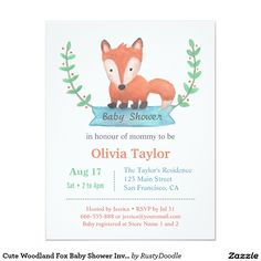 boys fox and arrows baby shower invitation | boys, babies and baby, Baby shower invitations