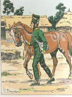 French; 19th Dragoons, Dragoon, Tenue d'écurie, 1807