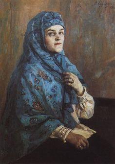 княгиня Василий Суриков. Галерея живописи. Портрет княгини П.И.Щербатовой. 1910