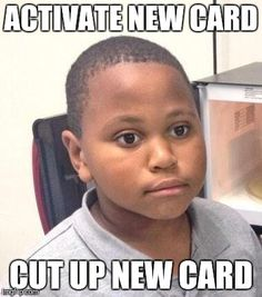 On the bright side, my now useless old debit card remains in one piece