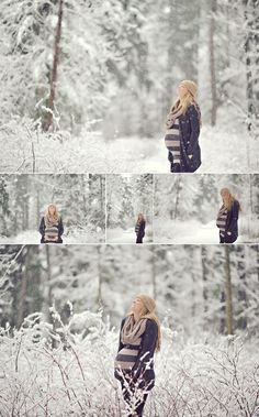 I wished I lived in a country with real snow - I would totally do a shoot like this...awesome!