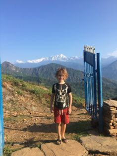 Awful Offal and moonlit mountains: Kathmandu and volunteering in Nepal with kids. Round The World Trip, Family Of 4, Nepal, Kids Playing, Moonlight, Mountains, Children Play, Bergen
