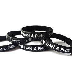 Dan and Phil Wristband,Bracelet,Birthday,Valentine,Christmas,Gift,Love... ($4.20) ❤ liked on Polyvore featuring jewelry, bracelets, i love jewelry, comic jewelry, christmas jewelry, comic book and birthday jewelry