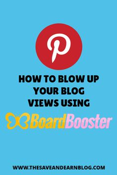 Learn how I use BoardBooster to increase my blog views. It's really easy to use and they give you 100 free pins to try out before purchasing their monthly plan which is very affordable.