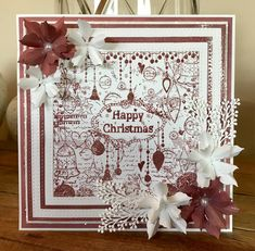 Created with the Vintage Ornaments Square Collage Stamp. Available from www.honeypotcrafts.co.uk