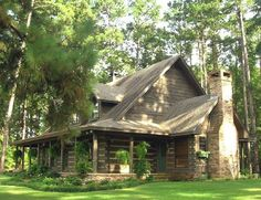 Appalachian Log Homes - Log Home For Sale, Pictures and Log Building Photos - Boyett, TX #LogHomeDecor #LogHomeDecorating