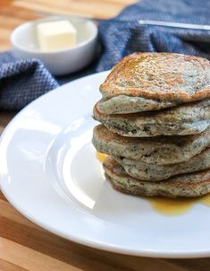 Blue Corn Pancakes - New Mexican Foodie
