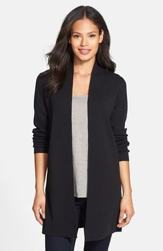 Free shipping and returns on Eileen Fisher Long Wool Crepe Jersey Cardigan (Regular & Petite) at Nordstrom.com. Simplicity and elegance are the hallmarks of this go-to cardigan styled in a long, slim silhouette and spun from luxurious jersey-knit wool crepe.