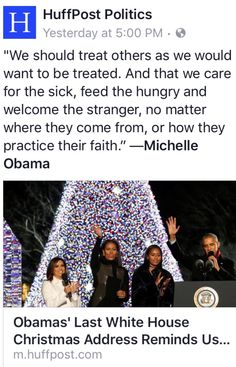 THIS is our last look at Decency, Kindness and Caring in the White House for a long time to come. This Wonderful Woman has been Disrespected, Mocked and Hated for no other reason than her Skin Color. She will be missed by Millions who are Grateful for her presence in The White House. Beautiful Michelle Obama!!