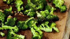 Roasted Broccoli    Trying this tonight. The key is preheating a baking sheet in a high temperature oven.