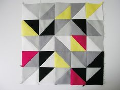 sewing 101: triangle patchwork wall art | Design*Sponge