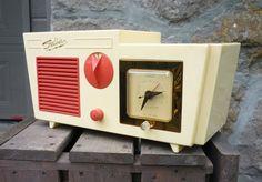 Ultra RARE Mid Century Jetsons Shelbern Clock Radio   eBay