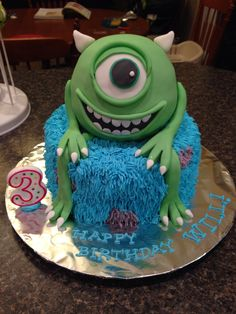 Monsters Inc monsters university mike wazowski cake