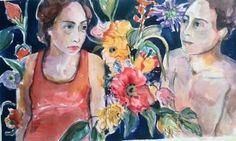 """Saatchi Art Artist Fotini Hamidieli Martou; Painting, """"together"""" #art"""