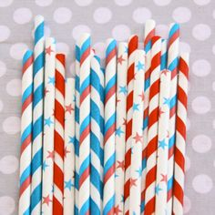 festive straws for the 4th