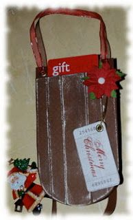 Sleigh gift card holder.