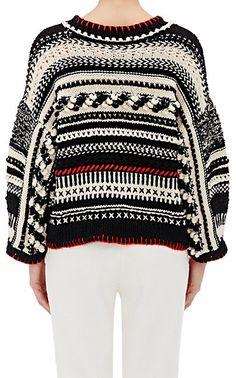 Spencer Vladimir Mixed-Stitch Crop Sweater - Crewneck - Barneys.com