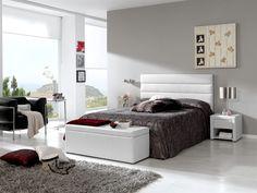 Camas y dormitorios tapiazados MURCIA LD. Cabeceros y camas de diseño en madera.