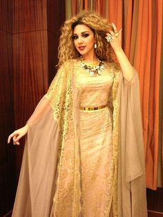 The Queen Of Stage Myriam Fares Wearing Rami Kadi to the Al Thani Royal Wedding In Doha.