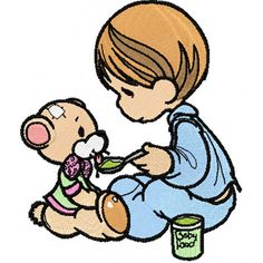 Precious Moments I like this time machine embroidery design