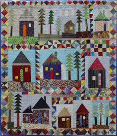 Cabin in the Wood by Rachel Tyndall.  Coming Home exhibition, 2014, London (UK) Quilters' Guild.