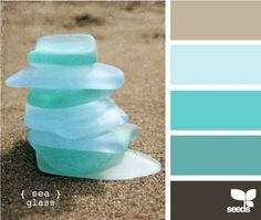 Love love love these ocean colors.... And throw in a splash of red for modern look!!