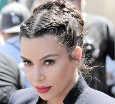 Braided Hairstyles for Women: Kim Kardashian Braids  #braids #braidedhairstyles #hairstyles