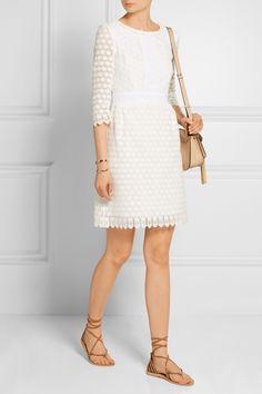Diane von Furstenberg   Dolly cady-trimmed crocheted cotton mini dress   NET-A-PORTER.COM