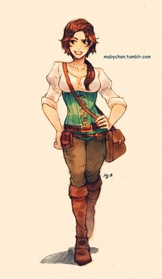 Gender bend Eugene from Tangled