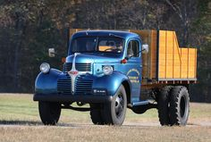 The 1947 Dodge Stake Bed Truck was on display Oct. during the 2016 Ram Heavy Hauler Media Program, Chelsea, Mich. Dodge Dually, Old Dodge Trucks, Mopar, Small Trucks, Cool Trucks, Dump Trucks, Pickup Trucks, Dakota Truck, Shop Truck