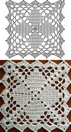 "carpeta 1 … ""Square crochet doily or block with chart, no source"", ""Blanket or Throw"""