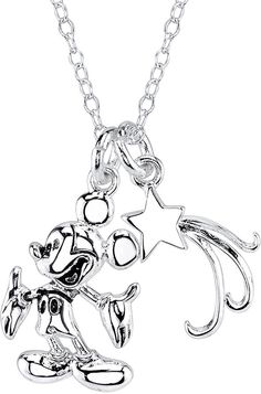 DISNEY Disney If You Can Dream It You Can Do It Mickey Mouse 2-pc. Pendant Necklace