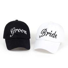 29e89239 SQUAD Groom Bride Baseball Cap 100% Cotton Embroidery Bachelorette Party  Hats Women Wedding Preparewear Trucker Caps Snapback